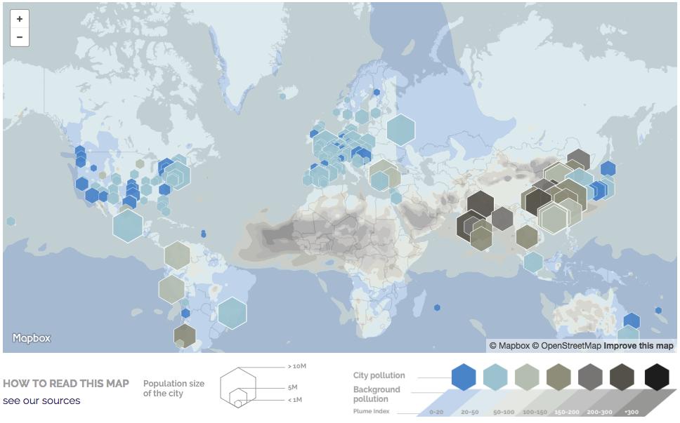 notre carte mondiale de la pollution en temps r el le blog plume labs. Black Bedroom Furniture Sets. Home Design Ideas